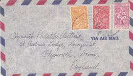 ARABIE SAOUDITE ENVELOPPE. CIRCULEE CIRCA 1940s, DHAHRAN A PLYMOUTH ANGLETERRE. PAR AVION - Saudi Arabia