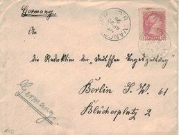 Vancouver B. C. Nach Berlin Redaktion Deutsche Jagdzeitung  1896 - 1851-1902 Regno Di Victoria