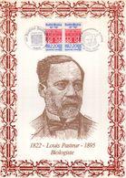 """"""" LOUIS PASTEUR """" Sur Encart 1er Jour N°té / Soie (1218/1500) Edit° A.M.I.S.. 2 X N° YT 2496. Parf état FDC - Louis Pasteur"""