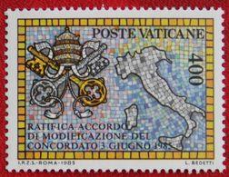 Neues Konkordat Mit Italien 1985 Mi 882 Yv 783 VATICANO VATICAN VATICAAN - Vatican