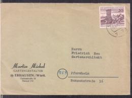 Deutsche Bundepost - 1962 - Brief - Martin Michel Gartengestalter - Cygnus - 1945-1992 Repubblica Socialista Federale Di Jugoslavia