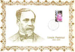 """"""" LOUIS PASTEUR """" Sur Encart Commémoratif N°té / Soie (73/500) Edit° A.M.I.S.. N° YT 1768 Parfait état FDC - Louis Pasteur"""