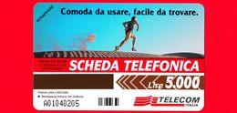 Nuova - MNH - ITALIA - Scheda Telefonica - Golden 615 A - Non Cercarla Lontano - Corridore - Alfanumerica - Italie
