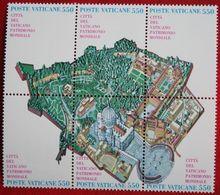 UNESCO-Welterbe Vatikanstadt 1986 Mi 883-888 Yv 786-791 VATICANO VATICAN VATICAAN - Vatican