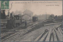 Levier , Train En Gare Du Chemin De Fer D' Andelot à Levier , Animée - Sonstige Gemeinden