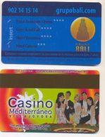 Casino Mediterraneo Advert On Bali Hotels Room Key Card, Benidorm, Spain,  # Bali-2 - Cartes De Casino