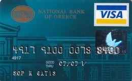 GREECE - National Bank Visa(reverse TAG Systems), 02/05, Used - Geldkarten (Ablauf Min. 10 Jahre)