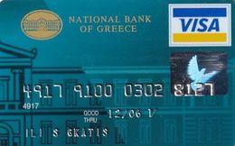 GREECE - National Bank Visa(reverse Schlumberger Solaic), 02/04, Used - Geldkarten (Ablauf Min. 10 Jahre)