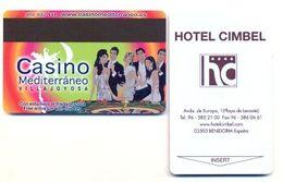 Casino Mediterraneo Advert On Hotel Cimbel Room Key Card, Benidorm, Spain,  # Cimbel-2 - Cartes De Casino