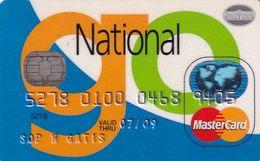 GREECE - National Bank MasterCard(reverse ICA Gemplus), 04/06, Used - Geldkarten (Ablauf Min. 10 Jahre)
