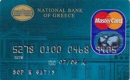 GREECE - National Bank MasterCard(reverse ICA Schlumberger Solaic), 02/04, Used - Geldkarten (Ablauf Min. 10 Jahre)