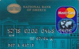 GREECE - National Bank MasterCard(reverse ICA Schlumberger Solaic), 12/01, Used - Geldkarten (Ablauf Min. 10 Jahre)