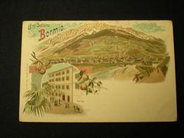 BORMIO - UN SALUTO - ALBERGO - LITHO KARL KUNZLI - Italien