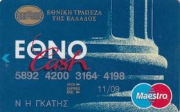 GREECE - National Bank Ethnocash Maestro(Oberthur)(2 Logos On Reverse), Debit Card, 02/02, Used - Geldkarten (Ablauf Min. 10 Jahre)