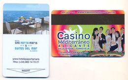 Casino Mediterraneo Advert On Hotel Porta Maris Room Key Card, Alicante, Spain,  # Portamaris-1 - Cartes De Casino