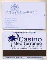 Casino Mediterraneo Advert On Hotel Sidi San Juan Room Key Card, Alicante, Spain,  # Sidi-1 - Cartes De Casino