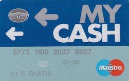 GREECE - National Bank My Cash Maestro(reverse Oberthur), Debit Card, 06/07, Used - Geldkarten (Ablauf Min. 10 Jahre)