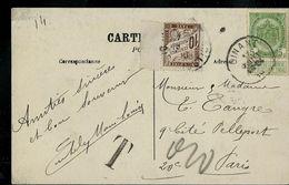 Carte-vue De Dinant Le 17/07/1910 - Taxé En France - Postage Due