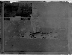 PLAQUE De VERRE (négatif Photo)  SENEGAL CHASSEUR AU RETOUR DE CHASSE - Plaques De Verre