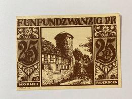Allemagne Notgeld Paderborn 25 Pfennig - [ 3] 1918-1933 : République De Weimar