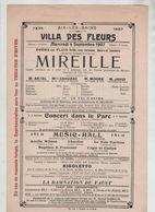 Affiche Aix Les Bains 1907 Villa Des Fleurs Mireille Opéra Ariel Cahuzac Moore Javid Brunetti - Affiches
