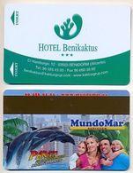 Benikaktus Hotel, Benidorm, Spain, Used  Magnetic Hotel Room Key Card # Benikaktus-1 - Cartes D'hotel