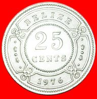 · COLONIAL PORTRAIT (1974-2017): BELIZE ★ 25 CENTS 1976 DISCOVERY COIN! LOW START ★ NO RESERVE! - Belize