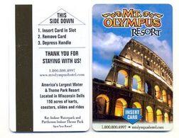 Mt. Olympus Resort, Wisconsin Dells, U.S.A., Used  Magnetic Hotel Room Key Card # Mtolympus-1 - Cartes D'hotel