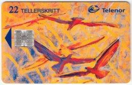 NORWAY A-269 Chip Telenor - Painting, Modern Art, Animal, Bird - Used - Norvège