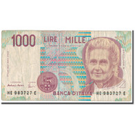 Billet, Italie, 1000 Lire, KM:114c, B+ - 1000 Lire