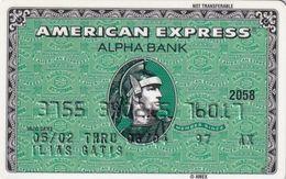 GREECE - Alpha Bank American Express(reverse P/N 212), Used - Geldkarten (Ablauf Min. 10 Jahre)