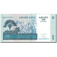 Billet, Madagascar, 100 Ariary, 2004, Undated (2004), KM:86b, TTB - Madagascar