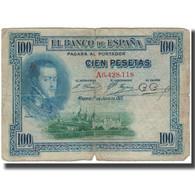Billet, Espagne, 100 Pesetas, 1925-07-01, KM:69a, AB+ - [ 1] …-1931 : Premiers Billets (Banco De España)