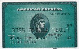 GREECE - Alpha Bank American Express(reverse P/N 460 PPP), 05/03, Used - Geldkarten (Ablauf Min. 10 Jahre)