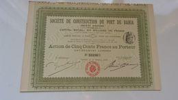 PORT DE BAHIA (1910) - Hist. Wertpapiere - Nonvaleurs