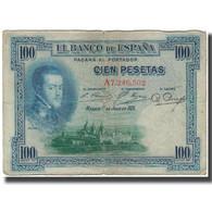Billet, Espagne, 100 Pesetas, 1925-07-01, KM:69a, B - [ 1] …-1931 : Premiers Billets (Banco De España)