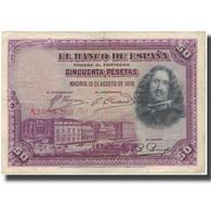 Billet, Espagne, 50 Pesetas, 1928-08-15, KM:75a, TB+ - [ 1] …-1931 : Primeros Billetes (Banco De España)