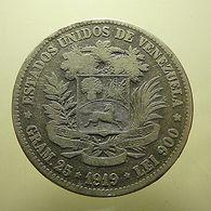 Venezuela 5 Bolivares 1919 Silver - Venezuela