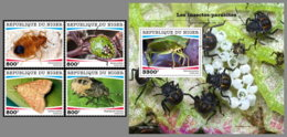 NIGER 2020 MNH Insects-Parasites Insekten Parasiten Insectes-Parasites 4v+S/S - OFFICIAL ISSUE - DHQ2028 - Other