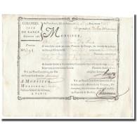 France, Traite, Colonies, Isle De France, 8535 Livres, Dépenses De La Marine - ...-1889 Francs Im 19. Jh.