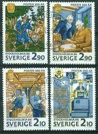 "Bm Sweden 1986 MiNr 1399-1402 Used | ""Stockholmia 86"" International Stamp Exhibition - Suède"