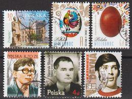 2019: Polen Mi.Nr. 5093,5096,5097,5130,5141+5146 Gest. (d029) / Pologne Mi.No. 4683,4686,4687,4715,4724+4728(?) Obl. - 1944-.... Republic