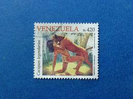 1998 VENEZUELA FRANCOBOLLO USATO STAMP USED NATIVI AMERICANI 420 BS CACIQUES LEGENDARIOS - Venezuela