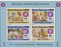Ref. 628789 * MNH * - CONGO. Democratic Republic. 2007. CENTENARY OF THE SCOUTS . CENTENARIO DEL ESCULTISMO - Neufs