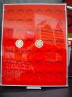 Leuchtturm Münzenbox Grau Runde Fächer 29 Mm Für 5,- DM Und 10,- Euro Luft Neu - Matériel