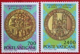 Christianisierung Lettlands 1987 Mi 911-912 Yv 806-807 VATICANO VATICAN VATICAAN - Vatican