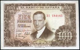 Ref. 240-371 - BIN SPAIN . 1953. 100 Pesetas 7th April 1953 - Julio Romero De Torres. 100 Pesetas 7 De Abril De 1953 - J - [ 3] 1936-1975 : Régimen De Franco