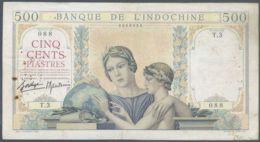 Ref. 4327-4830 - BIN INDOCHINA . 1939. INDOCHINE 500 PIASTRES 1939 - Indochine