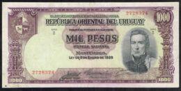 Ref. 5042-5547 - BIN URUGUAY . 1939. URUGUAY 1000 PESOS 1939 - Uruguay