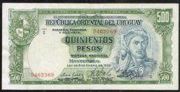 Ref. 5041-5546 - BIN URUGUAY . 1939. URUGUAY 500 PESOS 1939 - Uruguay